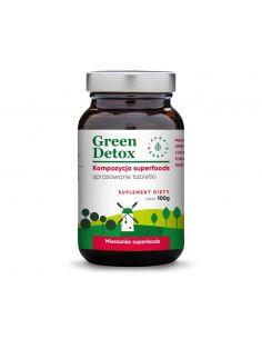 Green Detox - kompozycja superfoods - tabletki 100g Aura Herbals