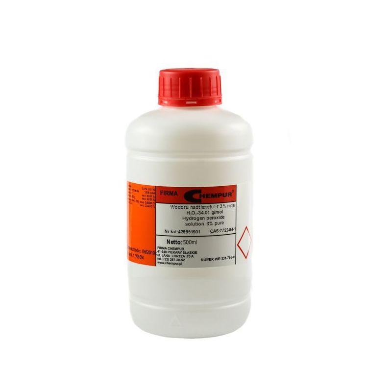 Nadtlenek wodoru 3% Woda utleniona CZDA 500ml Chempur